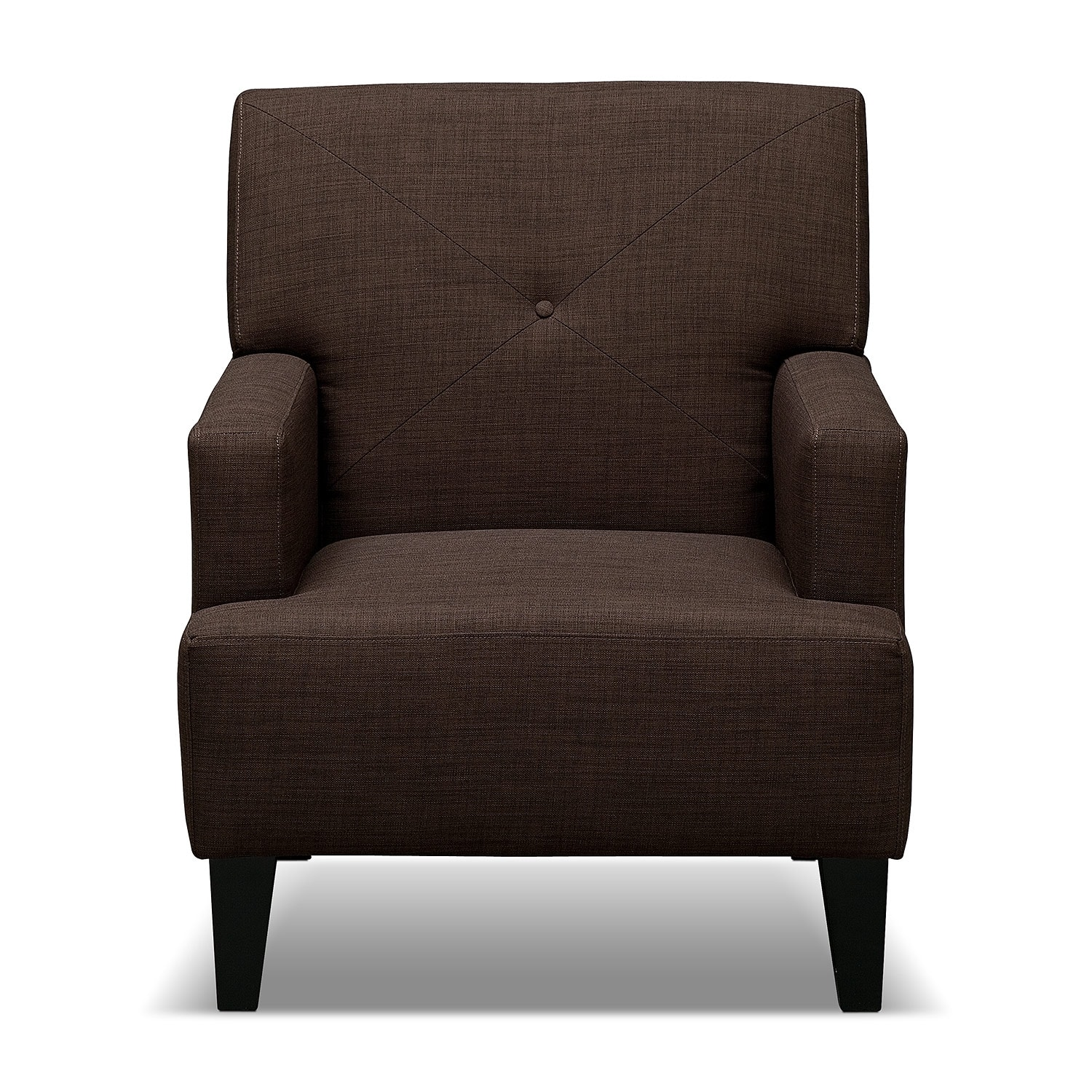 Avalon Accent Chair Espresso Value City Furniture