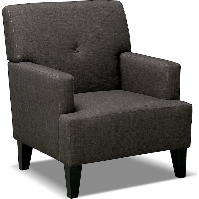 Living Room Furniture - Avalon Accent Chair - Charcoal