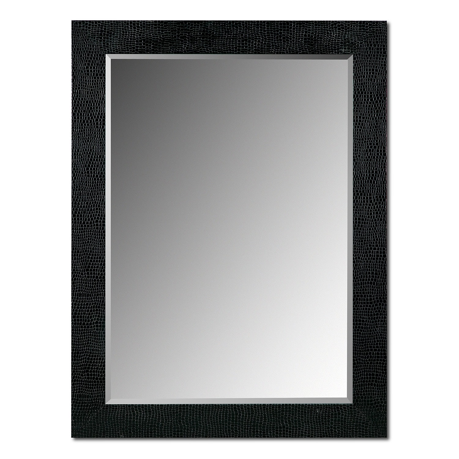 croc mirror black - Mirror With Black Frame