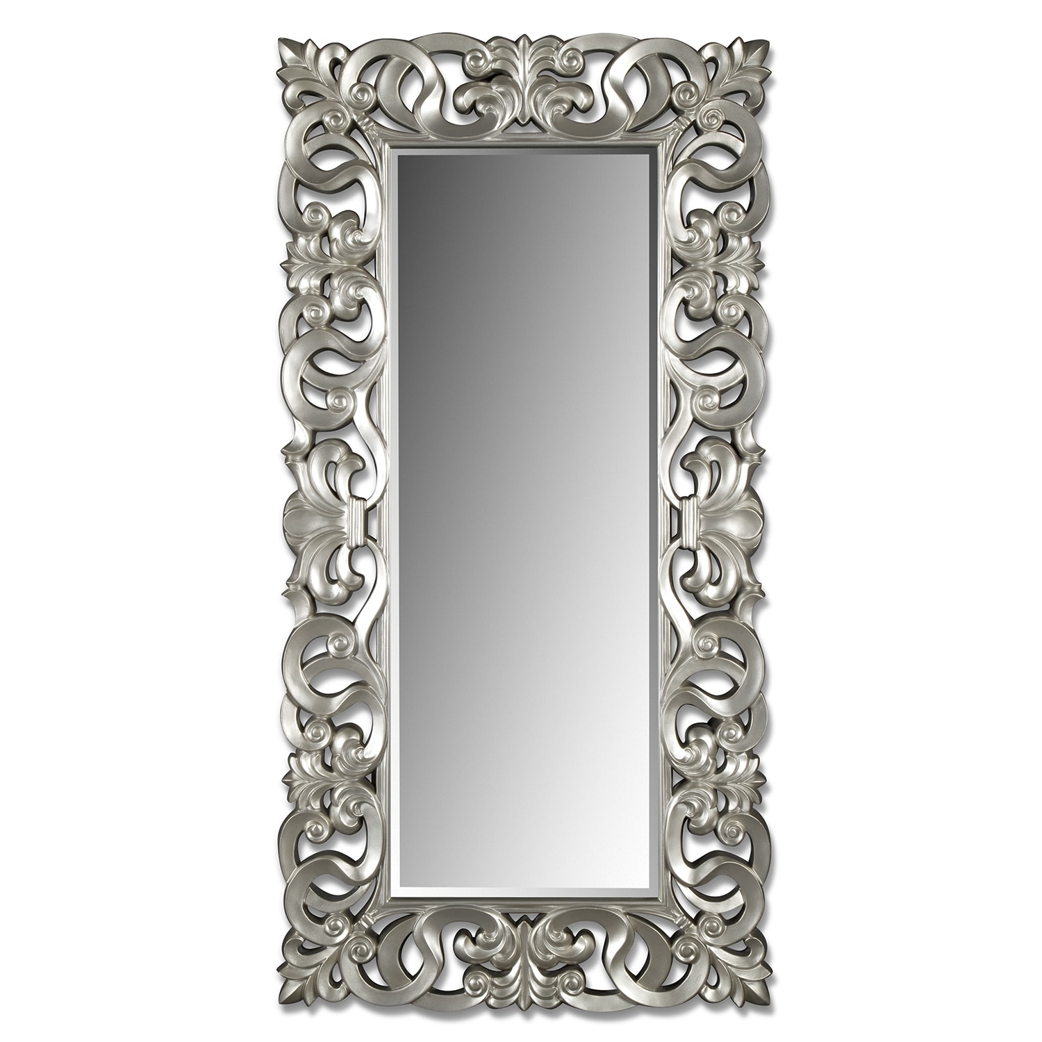 Silver Scroll Mirror Value City Furniture And Mattresses