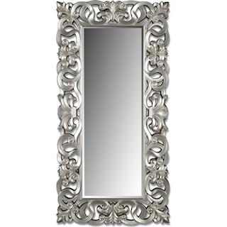 Silver Scroll Mirror