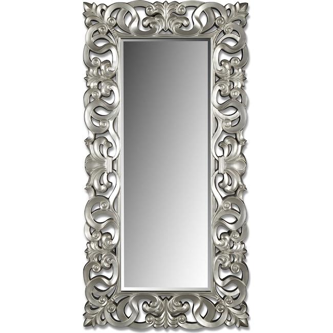 Home Accessories - Silver Scroll Mirror