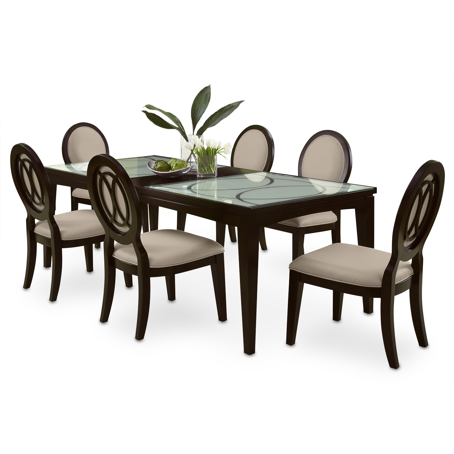 Dining Room Furniture - Cosmo 7 Pc. Dining Room