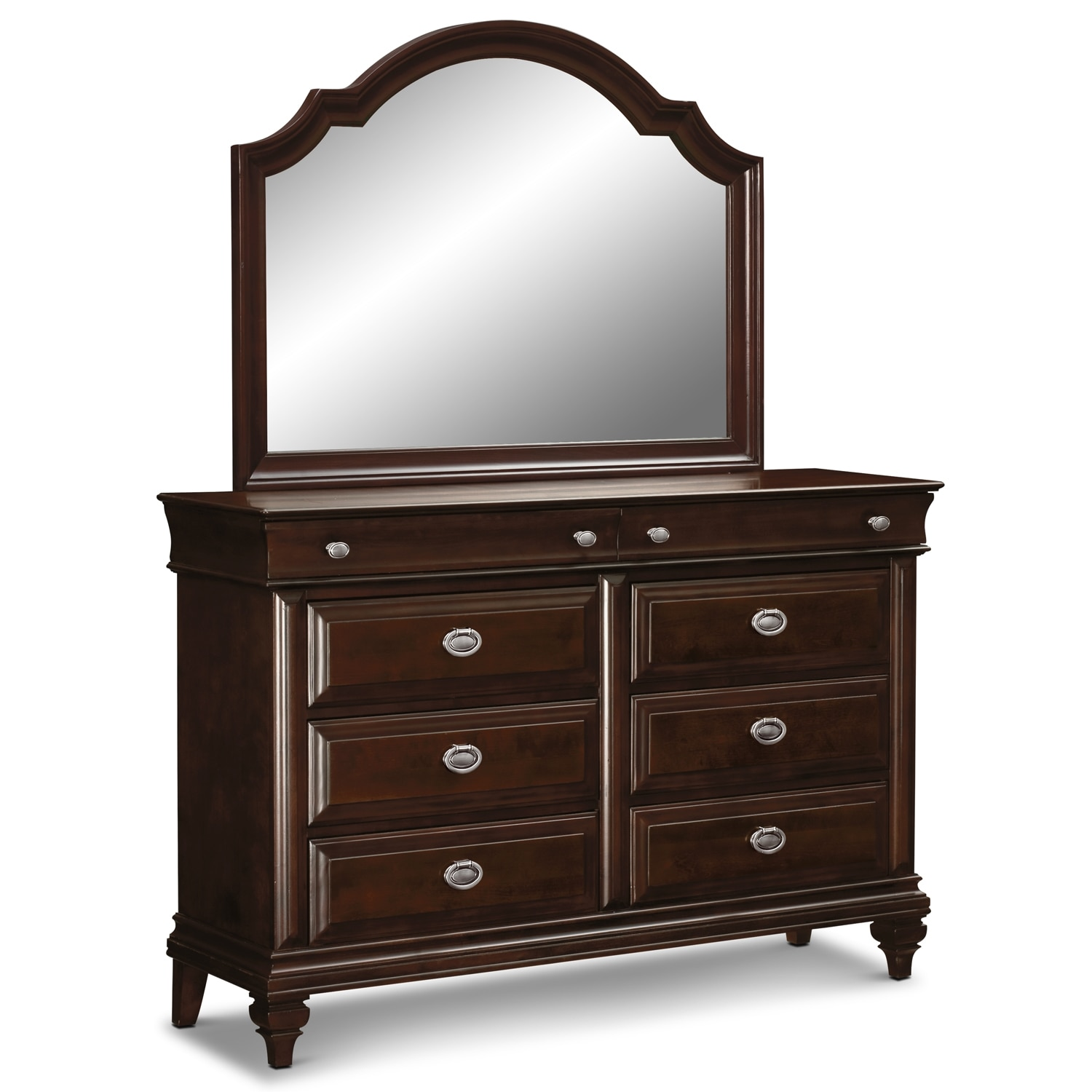 Mirrored Furniture Bedroom: Manhattan Dresser And Mirror - Cherry