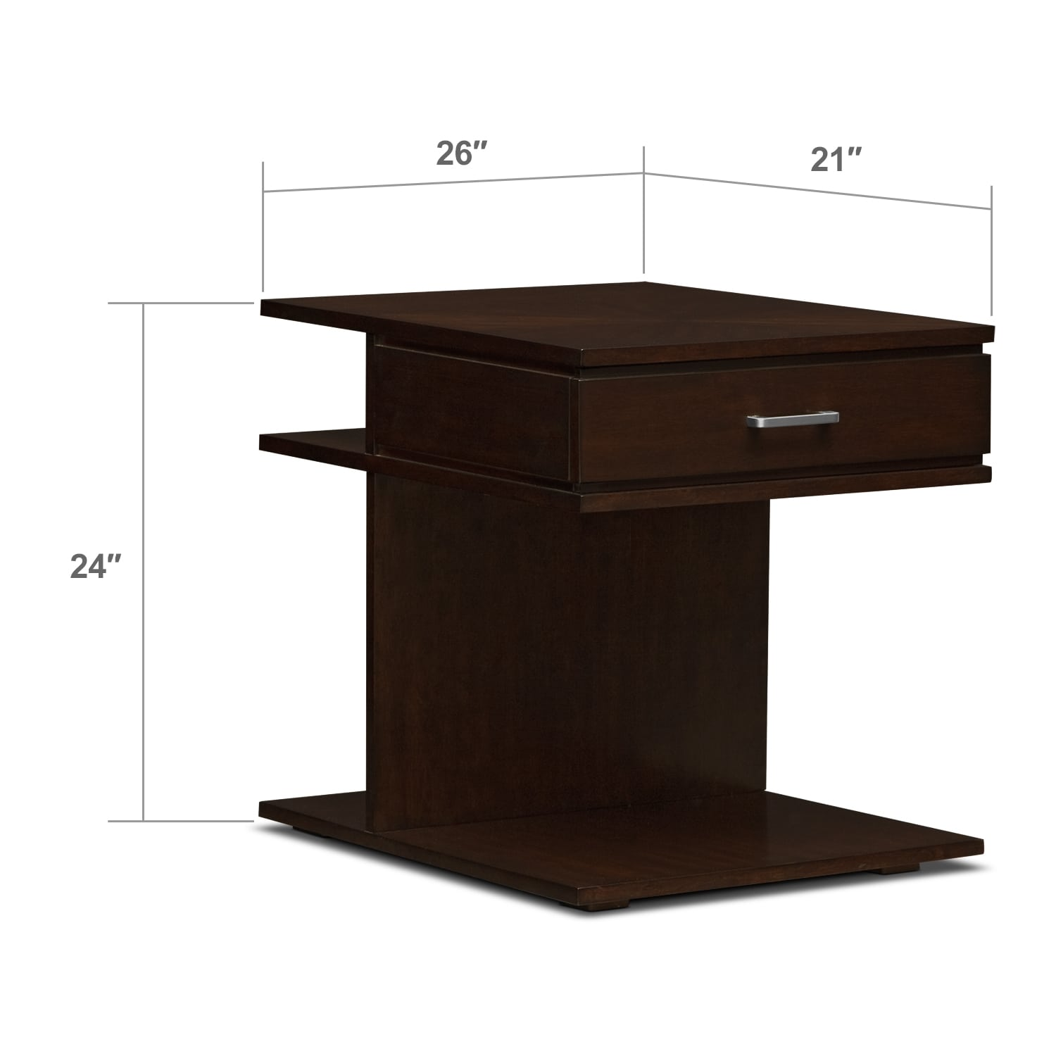 Accent and Occasional Furniture - Prestige End Table
