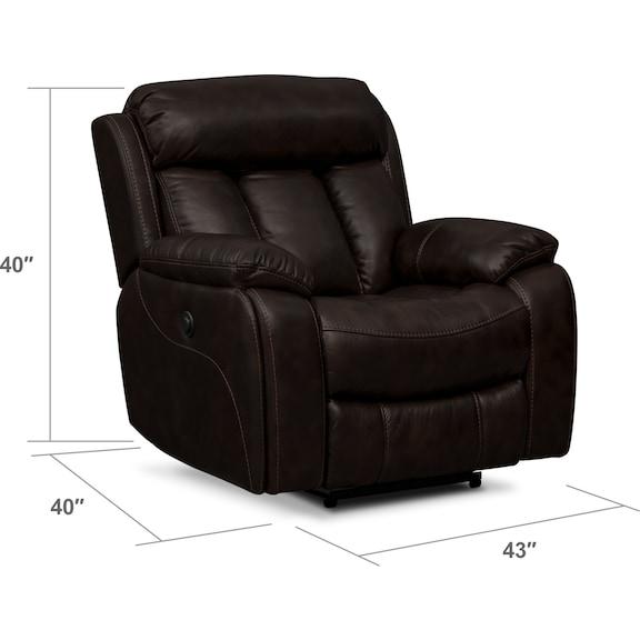 Living Room Furniture - Diablo Power Recliner - Walnut