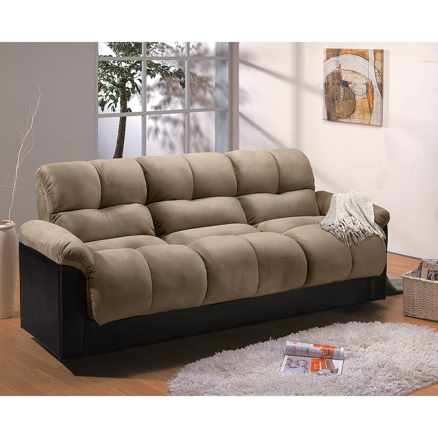 Ara Futon Sofa Bed With Storage Hazelnut Value City