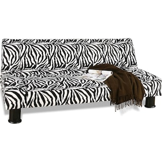 Maple Futon Sofa Bed - Black and White