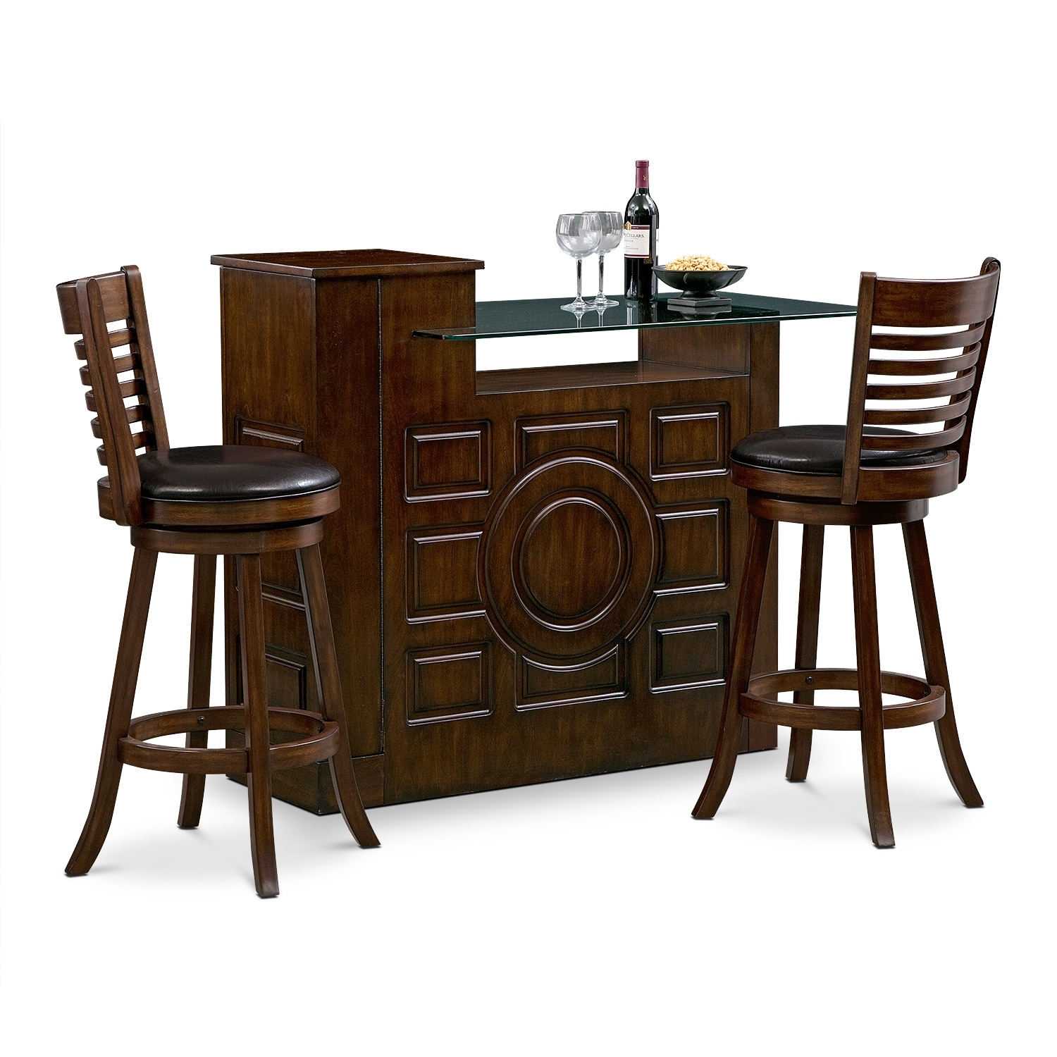 Accent and Occasional Furniture - Origins Chance 3 Pc. Bar Set
