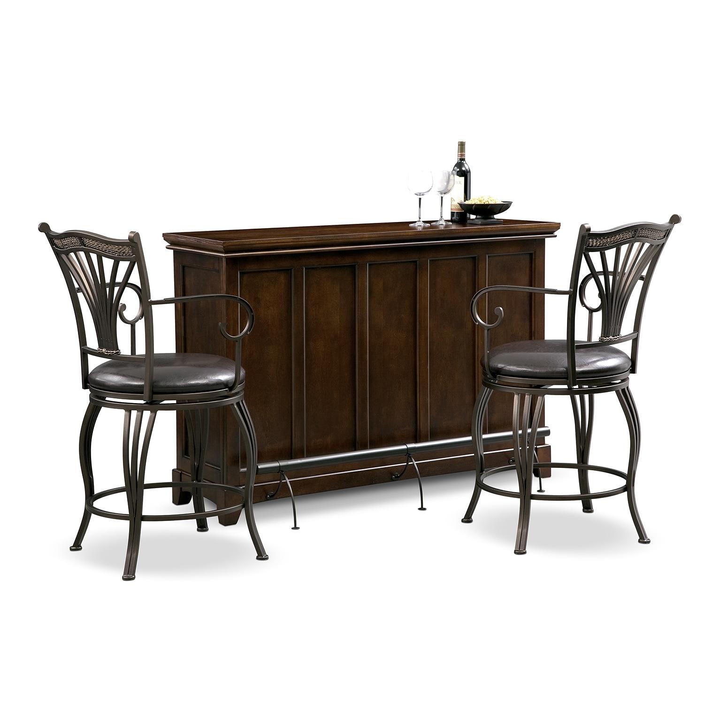 Accent and Occasional Furniture - Carlton Morgan 3 Pc. Bar Set