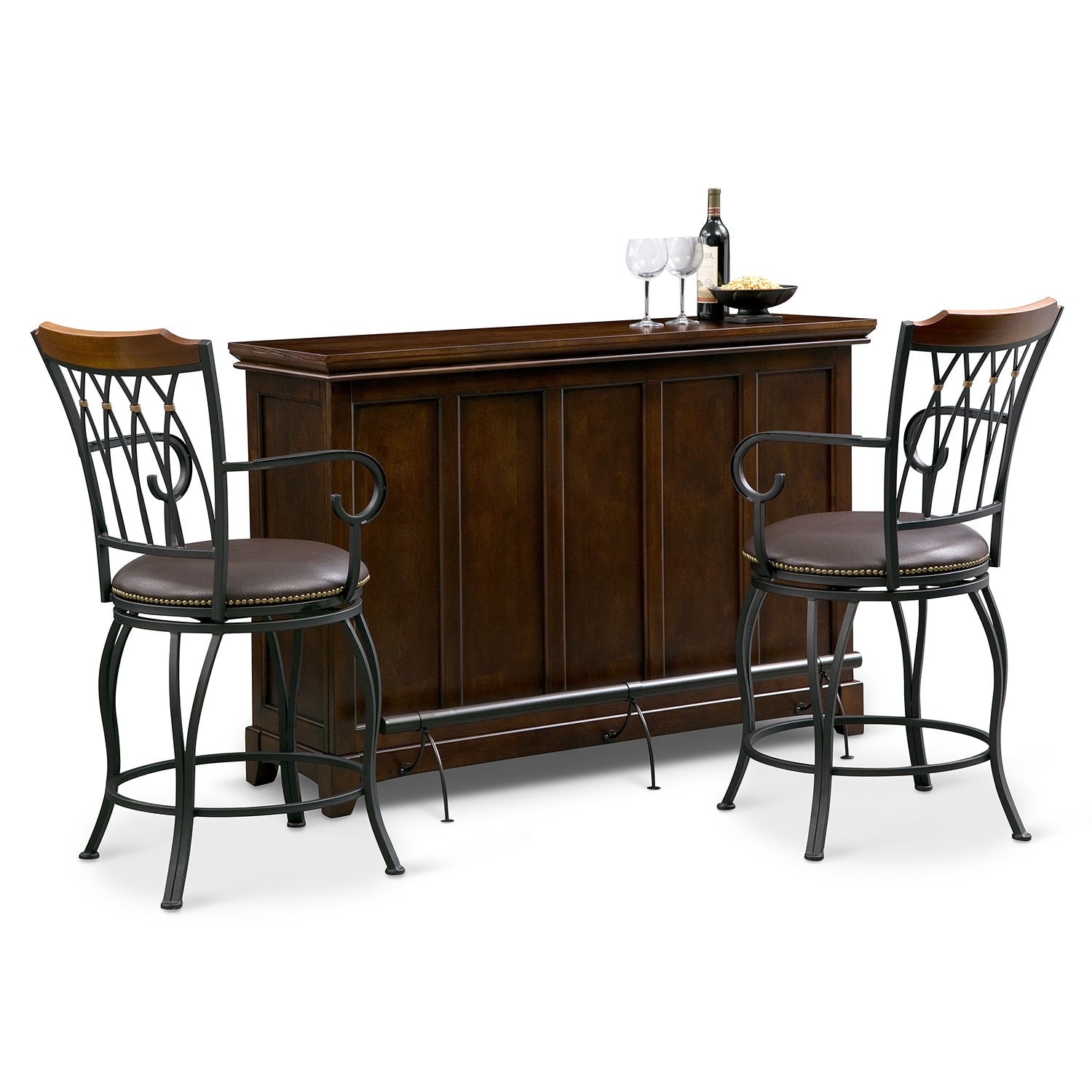 Accent and Occasional Furniture - Carlton Winfield 3 Pc. Bar Set