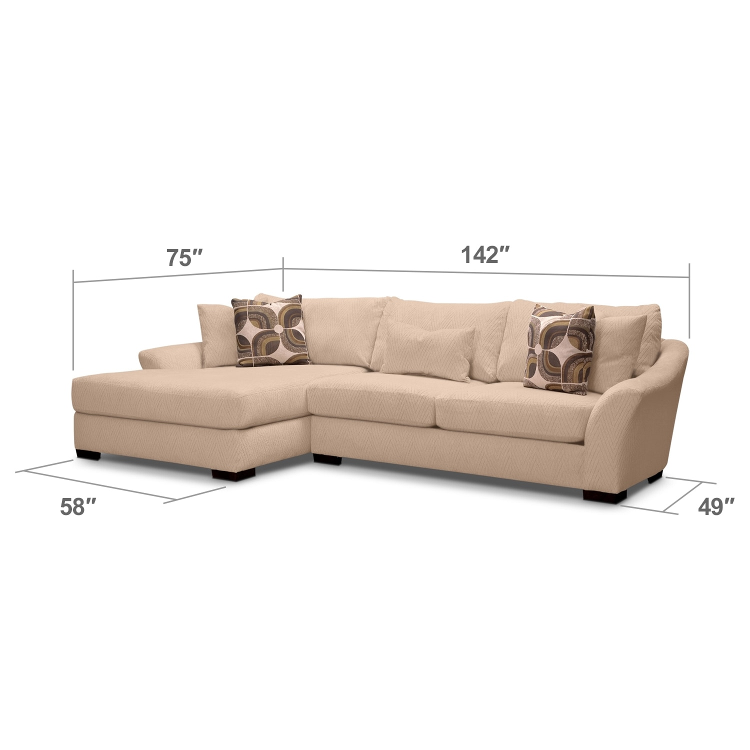 Living Room Furniture - Oasis II 2 Pc. Sectional