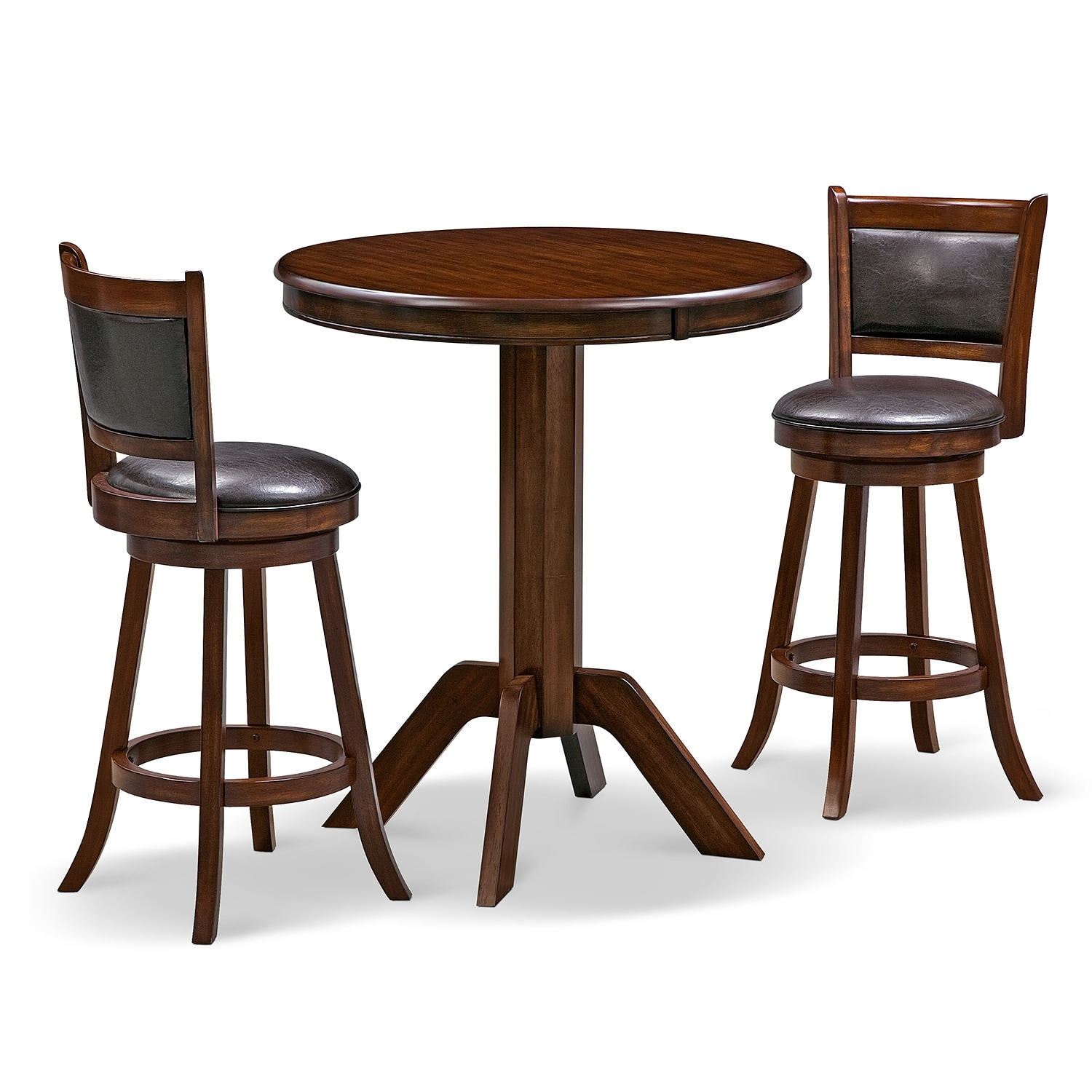 Dining Room Furniture - Concord Everly 3 Pc. Bar-Height Dinette