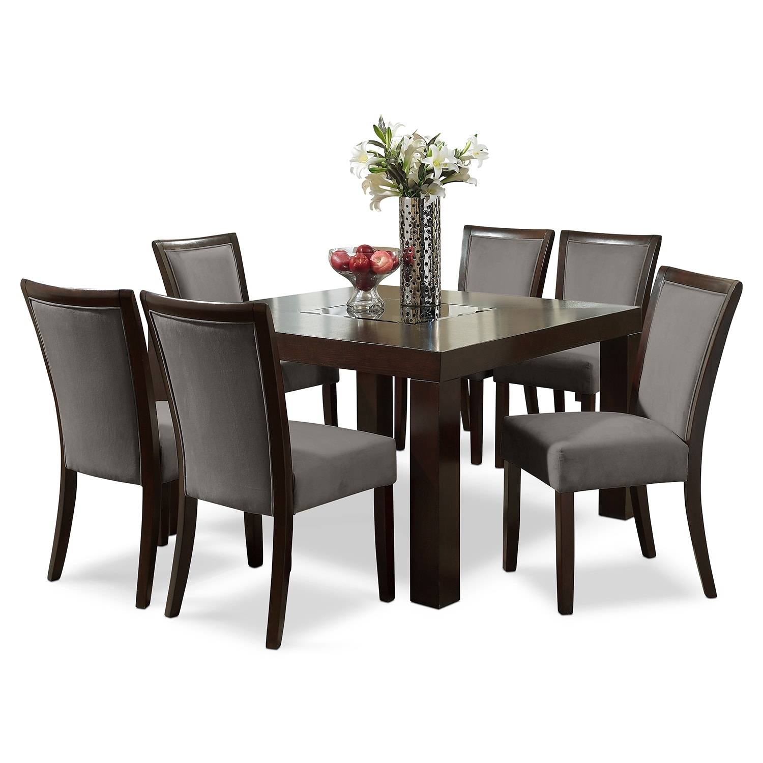 "Tango Gray 7 Pc. Dinette (50"" Table)"