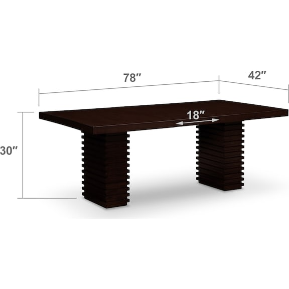 Dining Room Furniture - Paragon Dining Table - Merlot