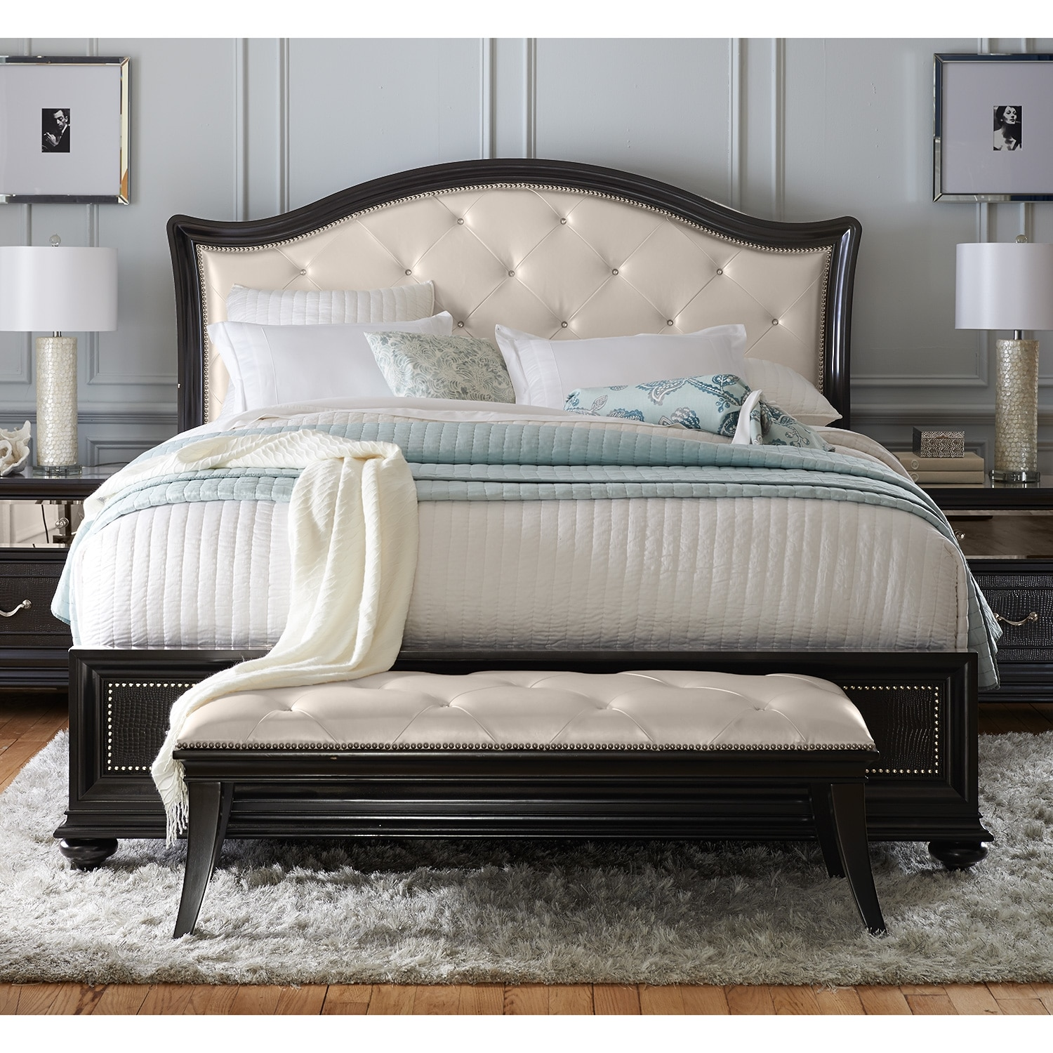 marilyn queen bed ebony value city furniture click to change image