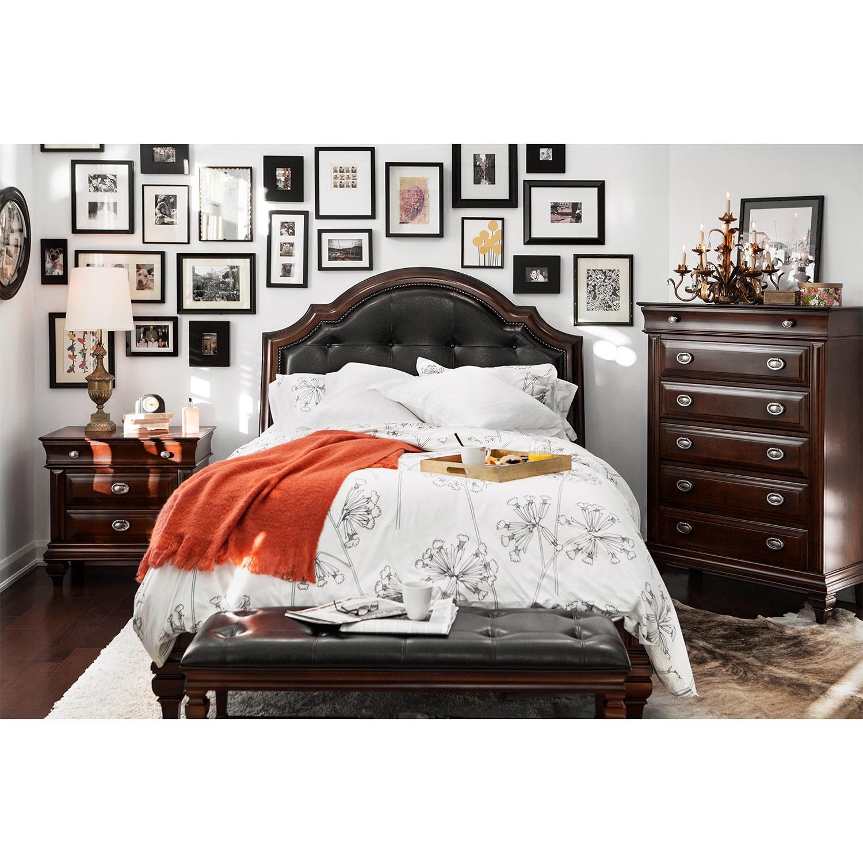 Manhattan Queen Bed - Cherry   Value City Furniture