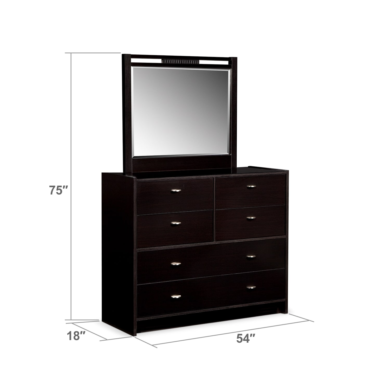 Bedroom Furniture - Bally Espresso Dresser & Mirror