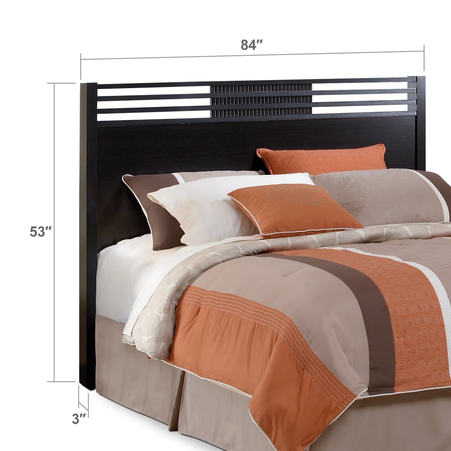 Bedroom Furniture - Bally King Headboard - Espresso