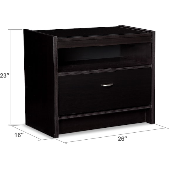 Bedroom Furniture - Bally Nightstand - Black