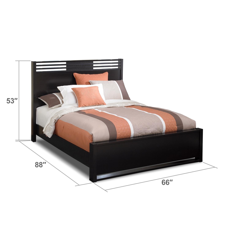 Bedroom Furniture - Bally Espresso Queen Bed