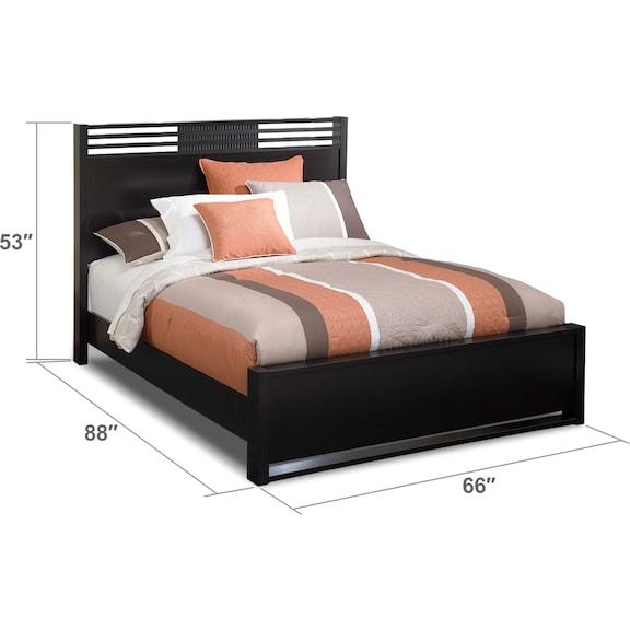 Bedroom Furniture - Bally Queen Bed - Espresso