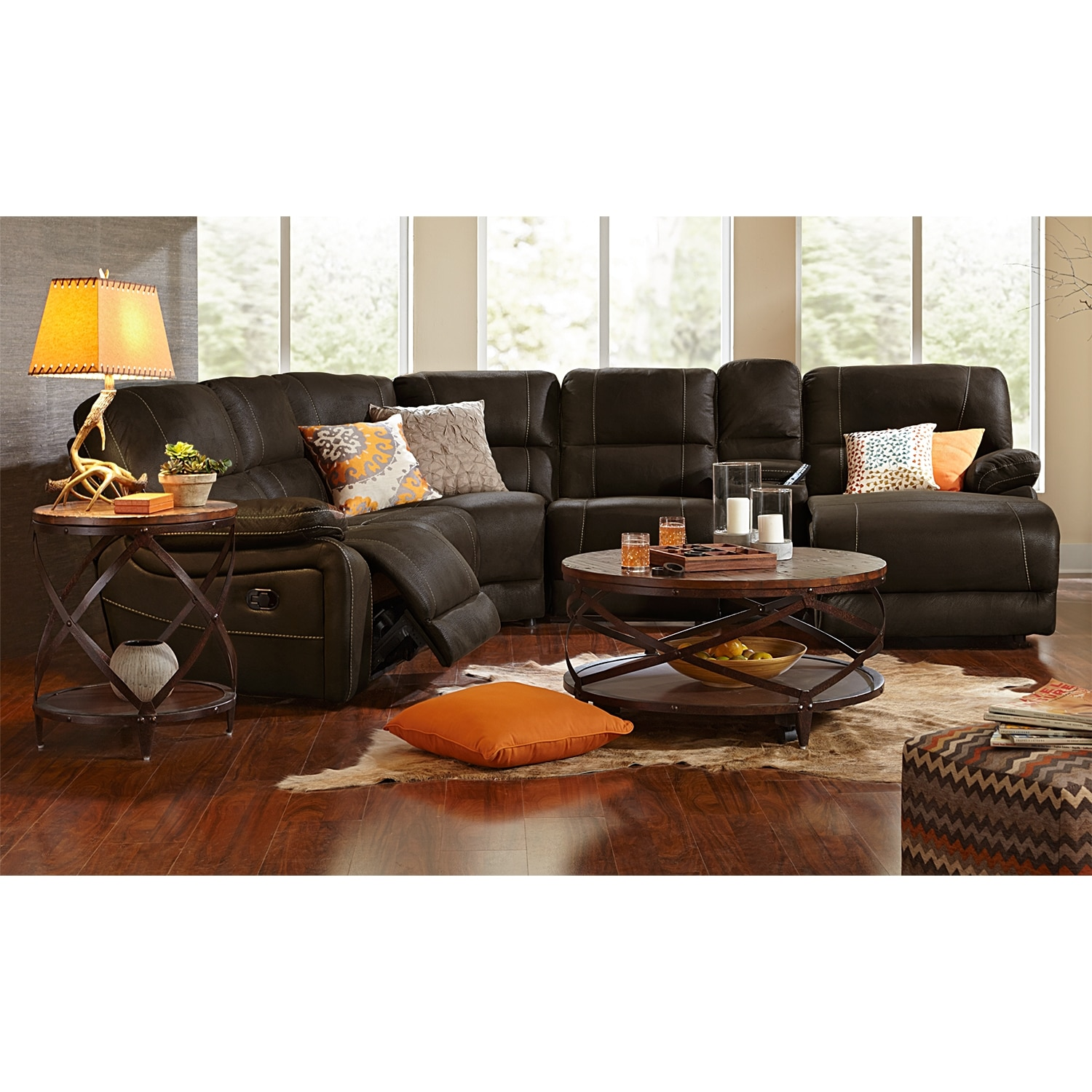 Best Value Furniture Store: Wyoming 5-Piece Reclining Sectional With Right-Facing