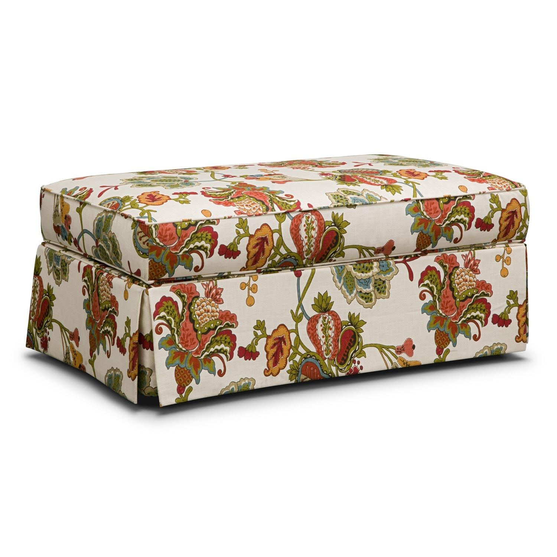 Living Room Furniture - Charlotte Storage Ottoman