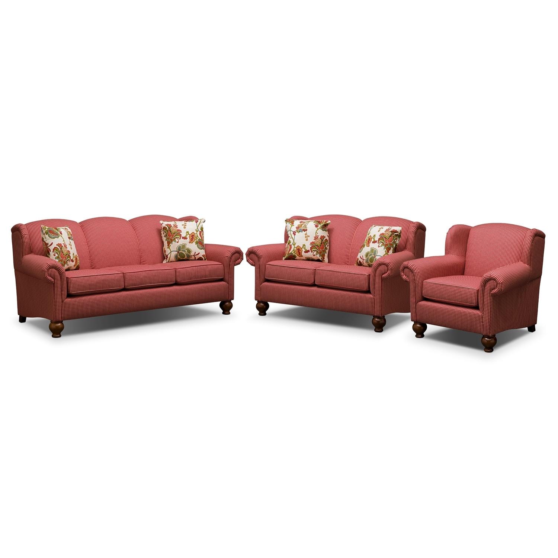 Living Room Furniture - Charlotte 3 Pc. Living Room