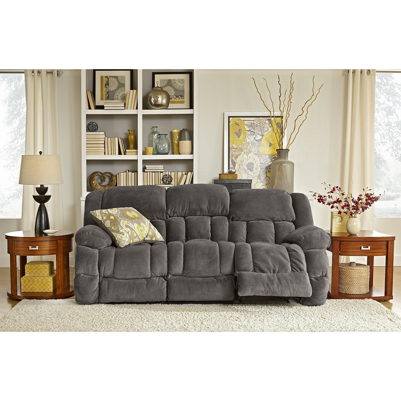 Park City Dual Reclining Sofa Gray