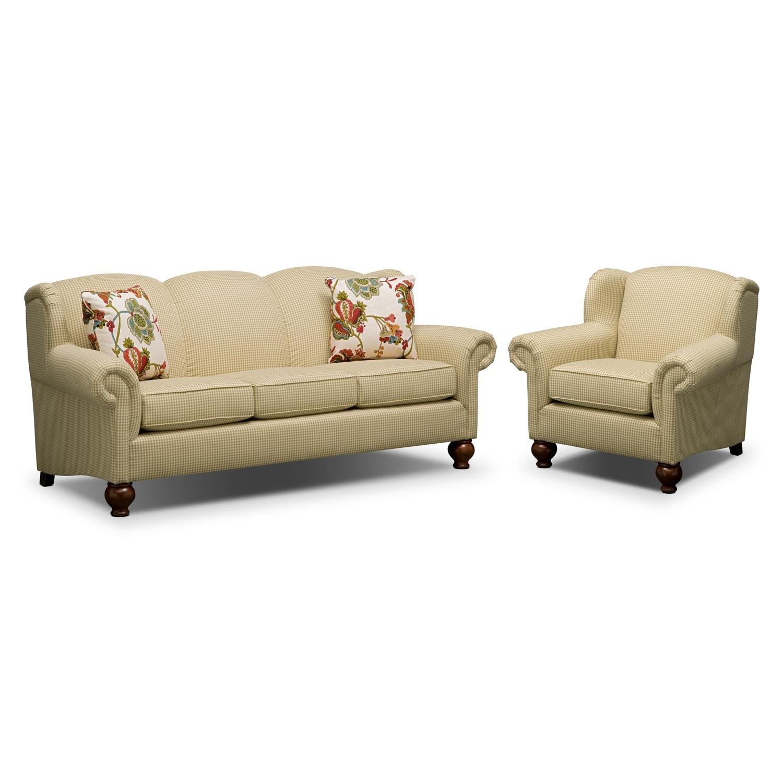 Living Room Furniture - Charlotte II 2 Pc. Living Room w/ Chair