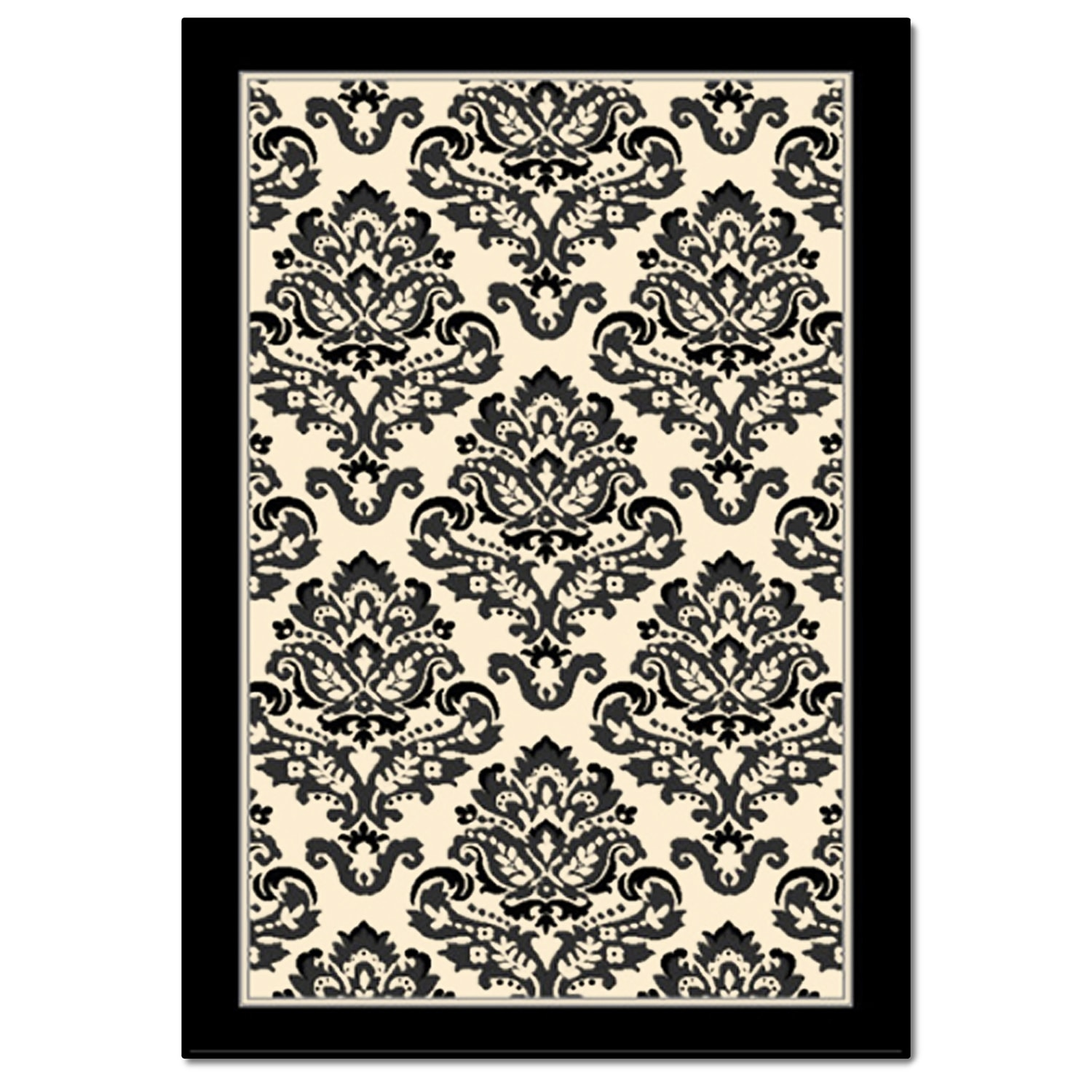 Rugs - Terra Clementine Area Rug - Black and White