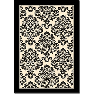 Terra Clementine Area Rug - Black and White