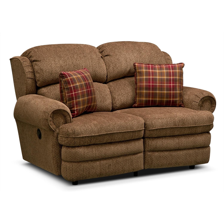 Living Room Furniture - Addison Reclining Loveseat