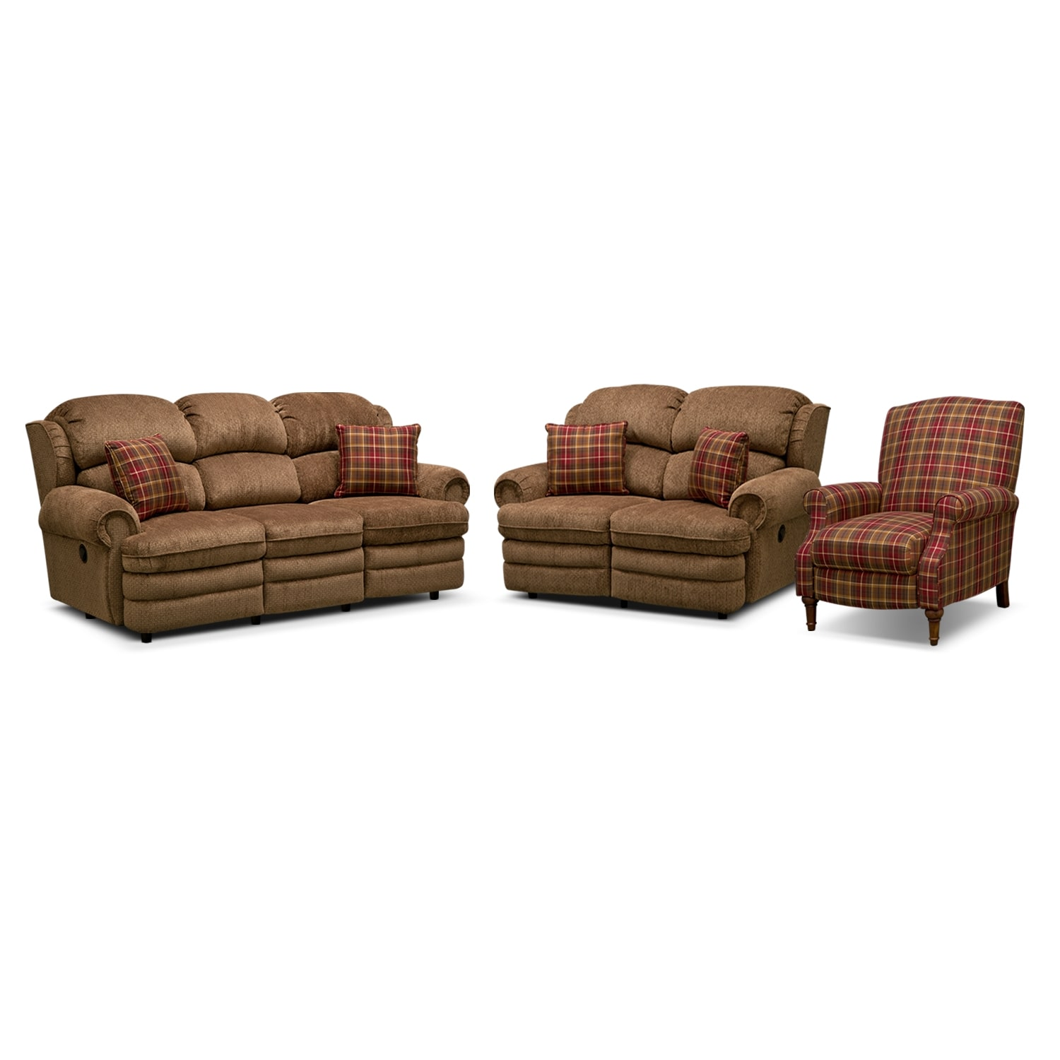 [Addison 3 Pc. Reclining Living Room w/Recliner]