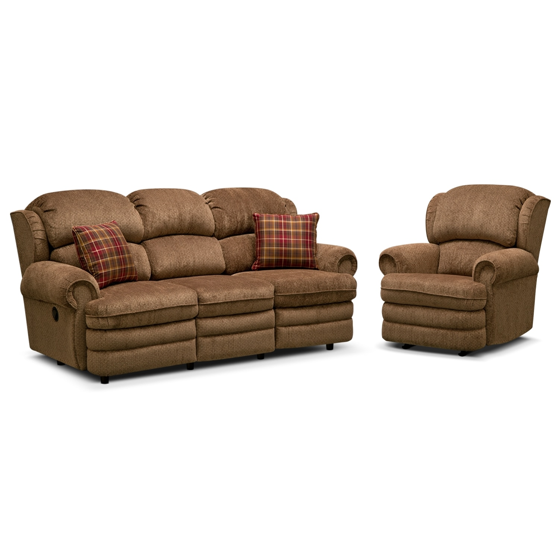 Living Room Furniture - Addison 2 Pc. Reclining Living Room w/Rocker Recliner