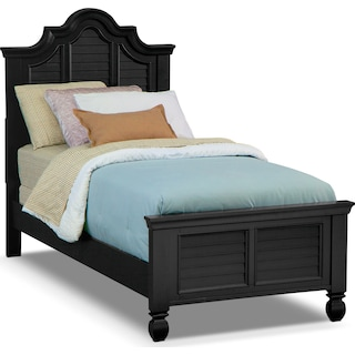 Plantation Cove Twin Bed - Black