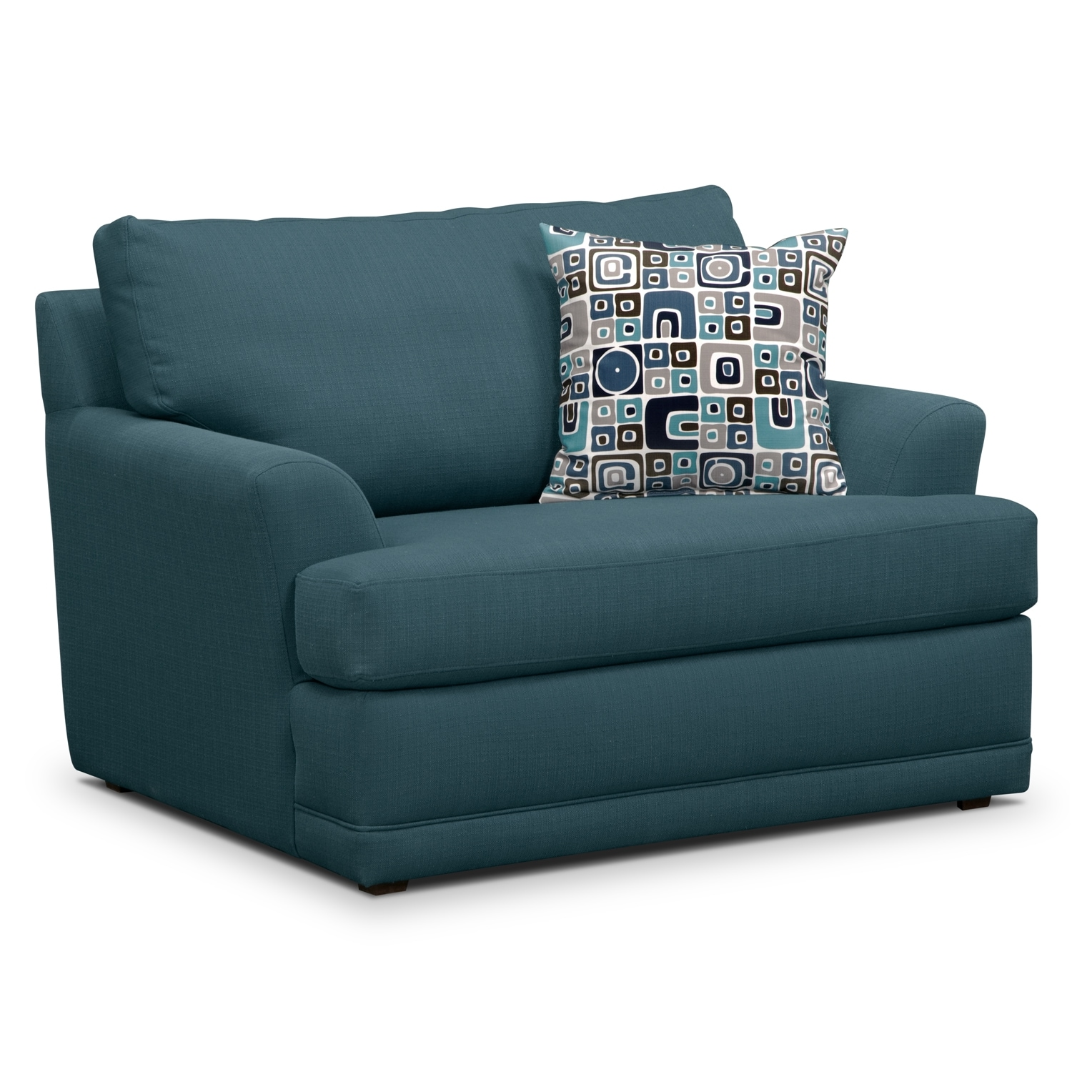 Living Room Furniture - Kismet Chair and a Half - Teal