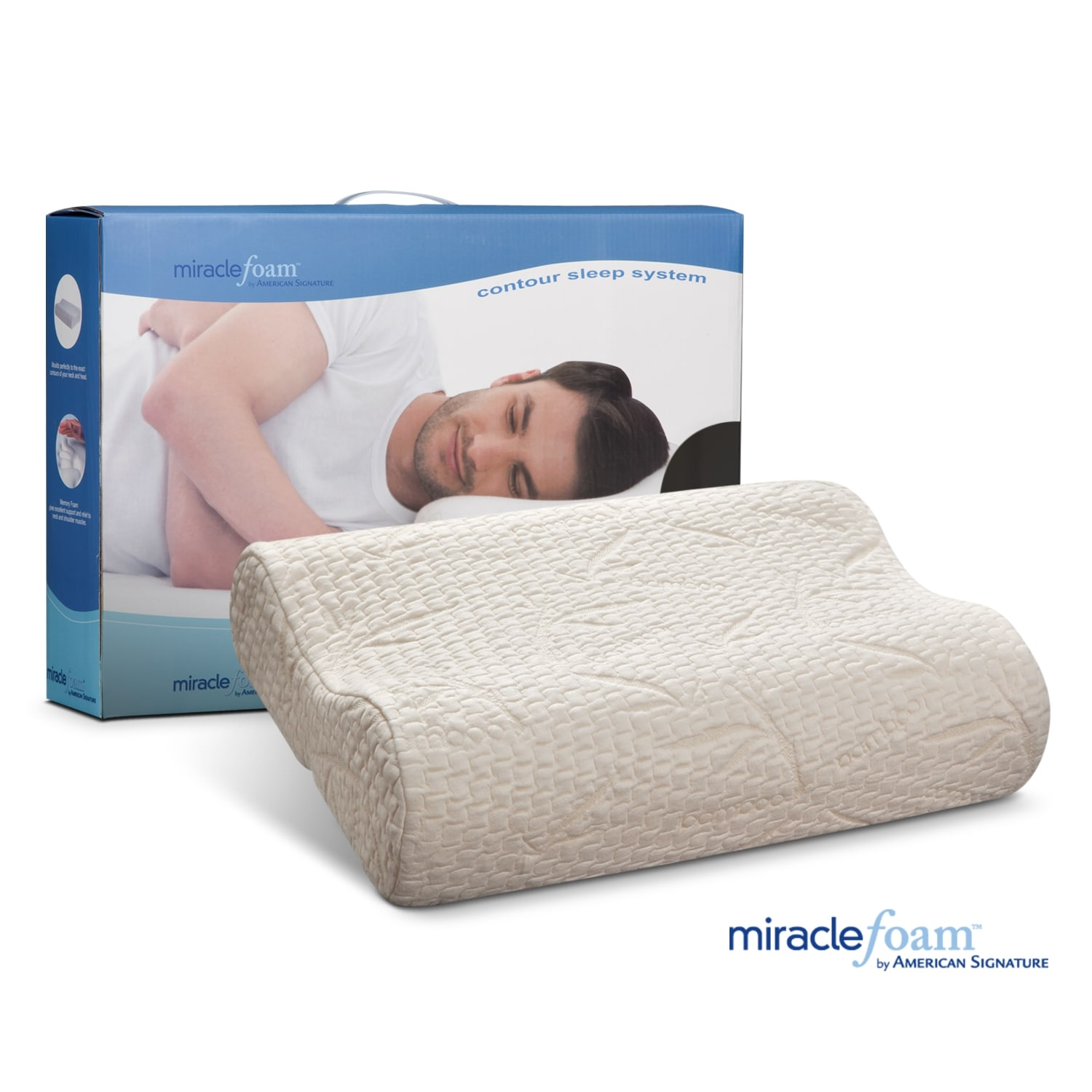 Mattresses and Bedding - Miracle Foam Contour Pillow