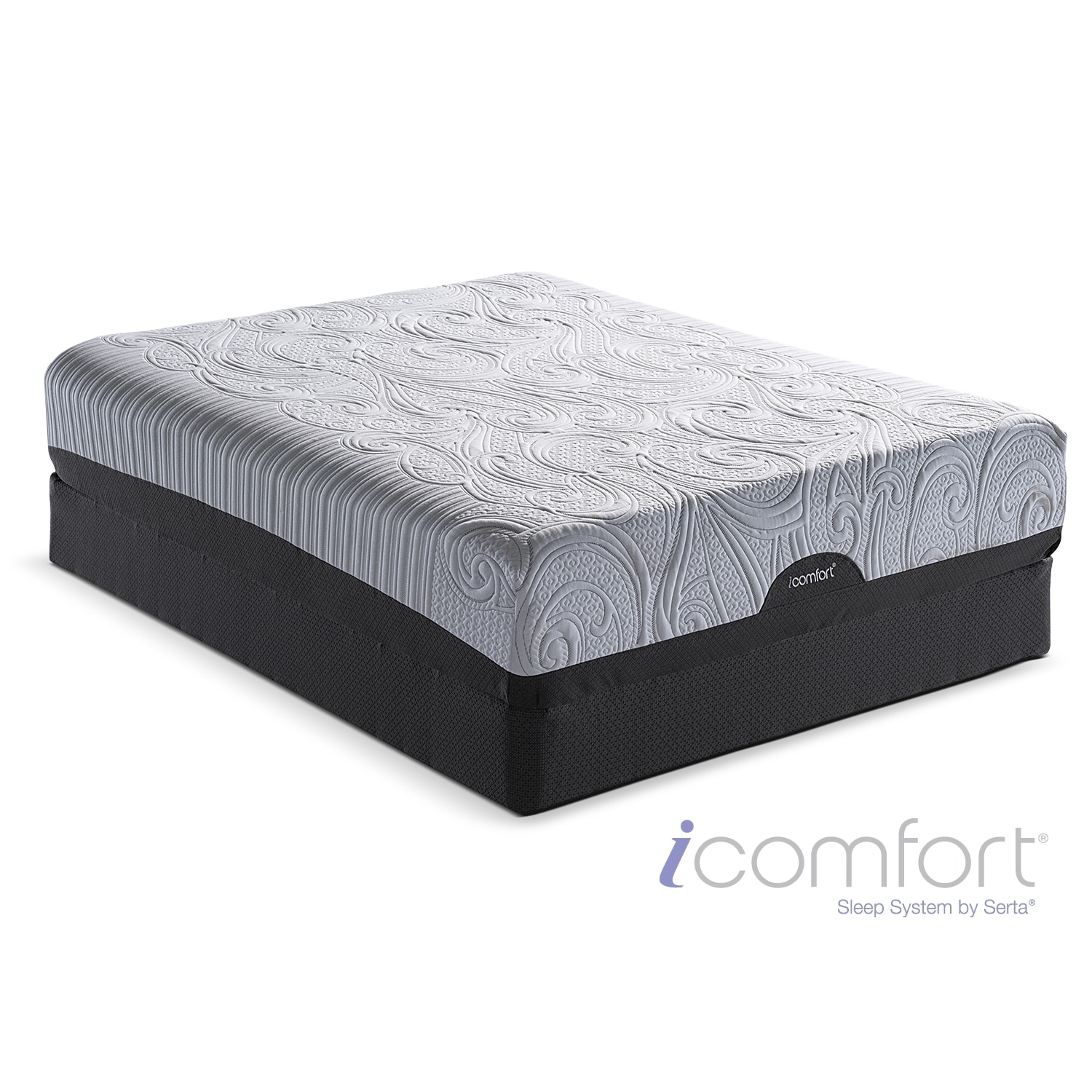 [iComfort Savant EverFeel Plush Full Mattress/Foundation Set]