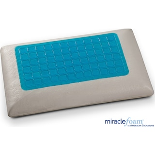 Gel Memory Foam Pillow - Blue