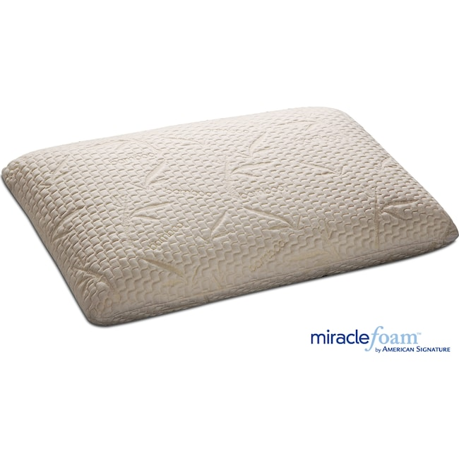 Mattresses and Bedding - Traditional Miracle Foam King Pillow - White