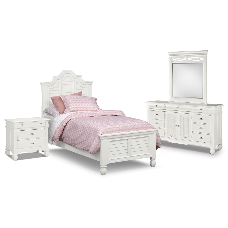 [Plantation Cove White Panel II 6 Pc. Full Bedroom (Alternate)]