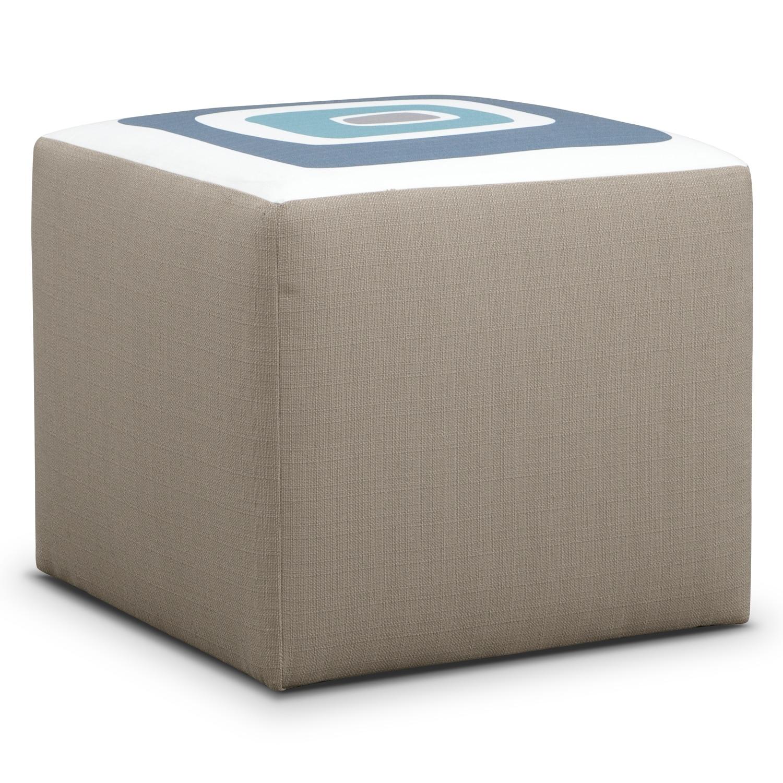 Kismet Cube Ottoman - Gray
