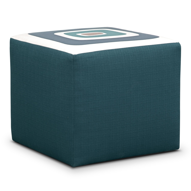 Kismet Cube Ottoman - Teal