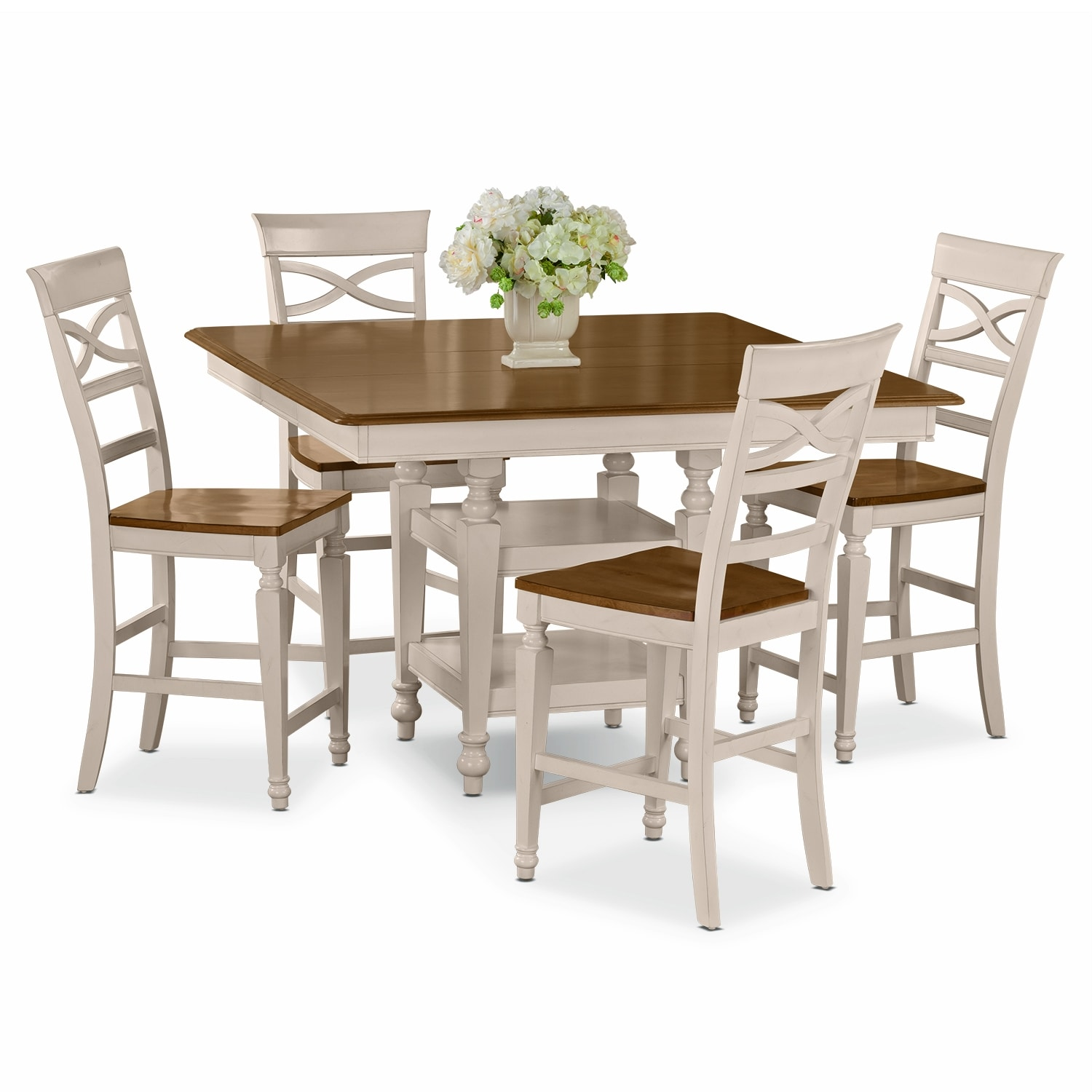 Chesapeake Ii Dining Room 5 Pc Counter Height Dinette Value City Furniture