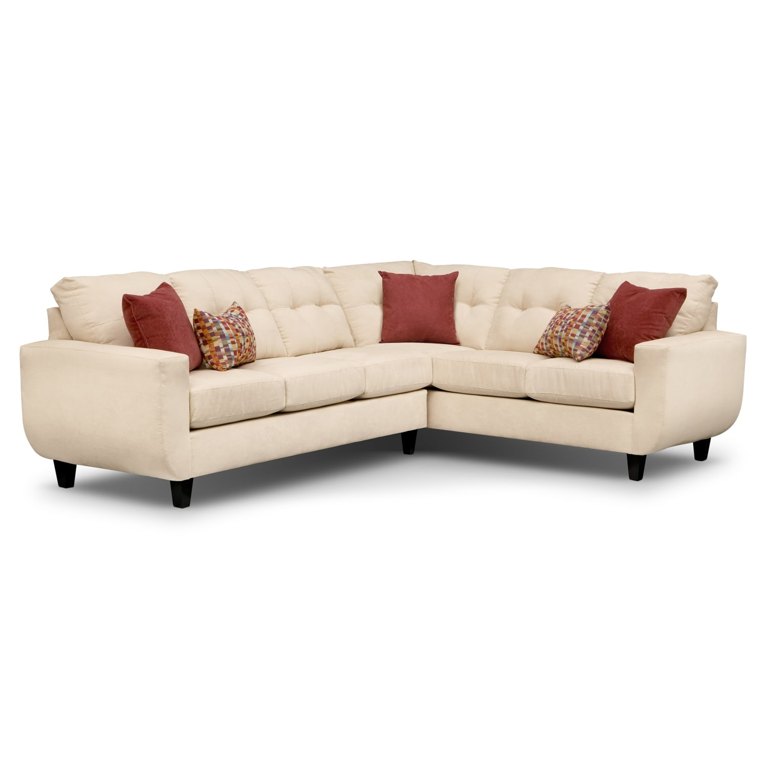West Village 2-Piece Sectional - Cream