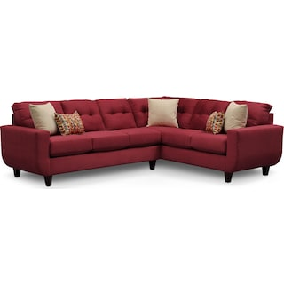 West Village 2-Piece Sectional - Red