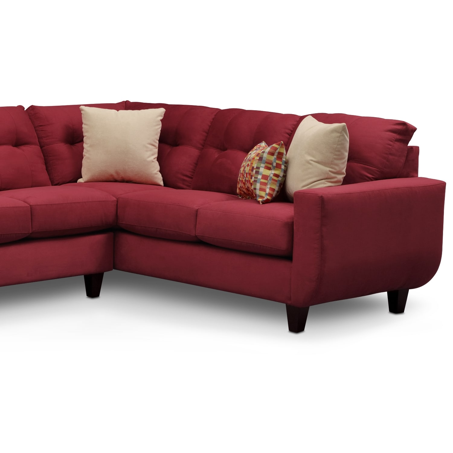 West Village 2 Piece Sectional Red Value City Furniture