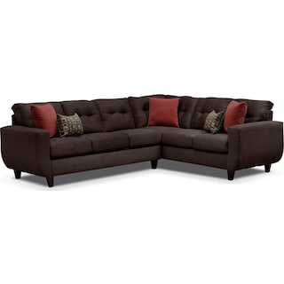 West Village 2-Piece Sectional - Chocolate